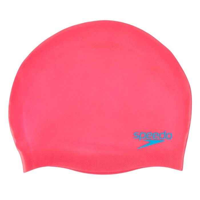 шапочка для плавания speedo plain moulded jr